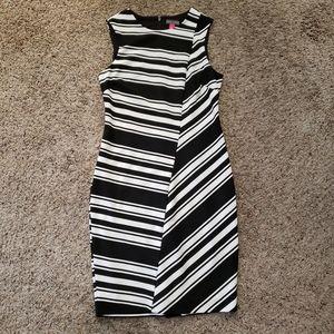 Vince Camuto Striped White & Black Dress